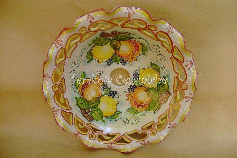 Lampadari In Ceramica Di Caltagirone.Illuminazione Ceramica Artigianale Ceramiche Artistiche Terakota